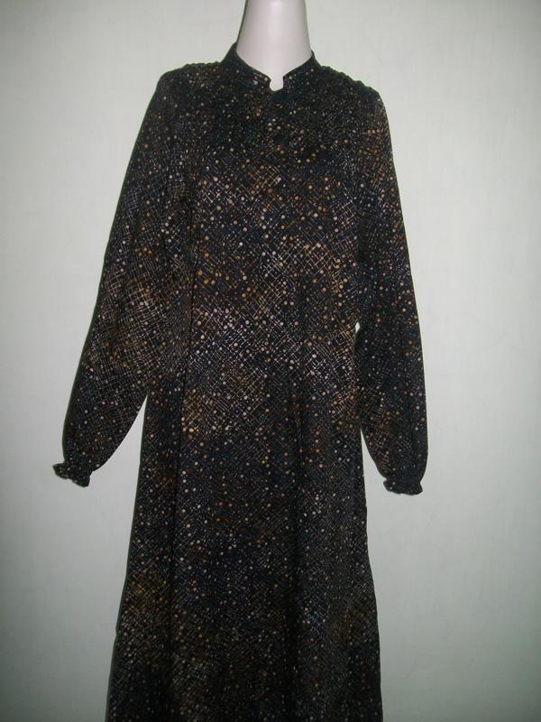 Abaya /Gamis Batik Modern Model Smok /Karet All-Size
