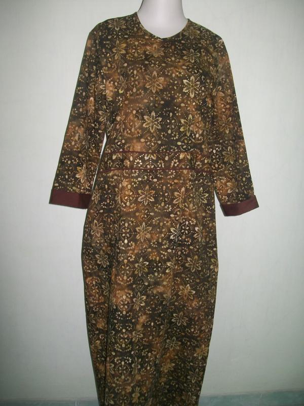 Gamis/Abaya Batik Online Solo kode GM019 – harga 90 Ribu Rupiah