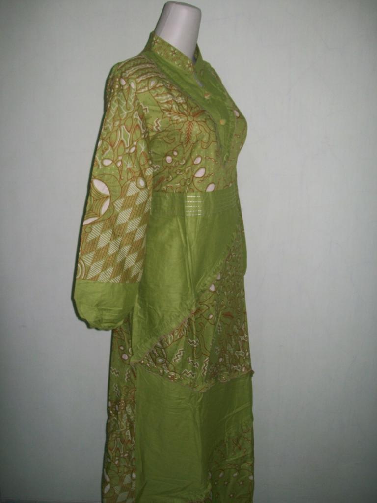 Gamis batik wanita muslim modern batik printing bahan Baju gamis batik ibu menyusui