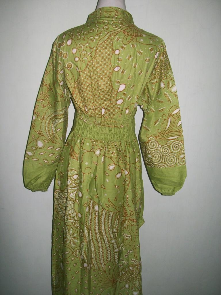 Desain Model Baju Gamis Batik Grosir Kombinasi Orang Gemuk