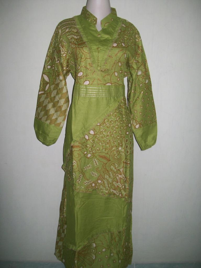 Gamis Batik Wanita Muslim Modern Batik Printing Bahan