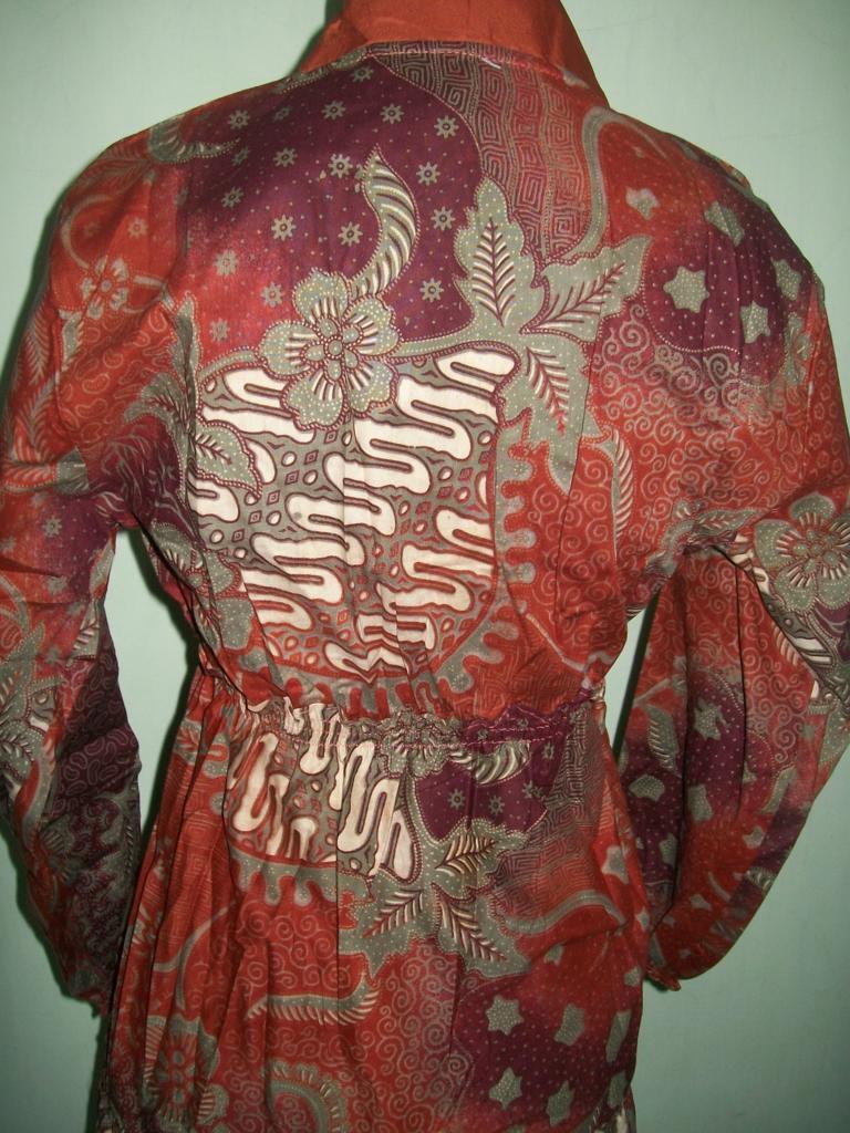 Model Gamis Batik Printing,Gamis Batik Tradisional Asli Solo [GM021]