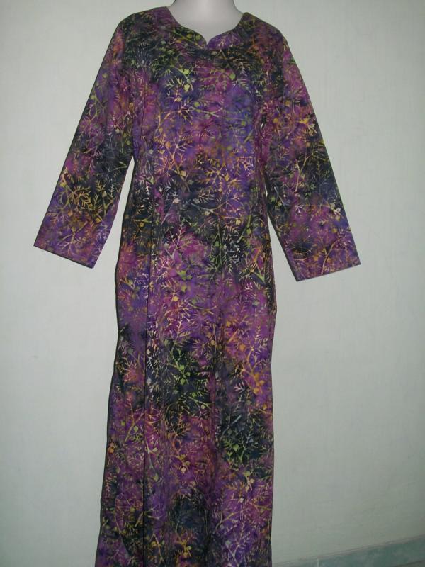 Koleksi Gamis Batik Trend Terbaru Berbahan Halus Kwalitas