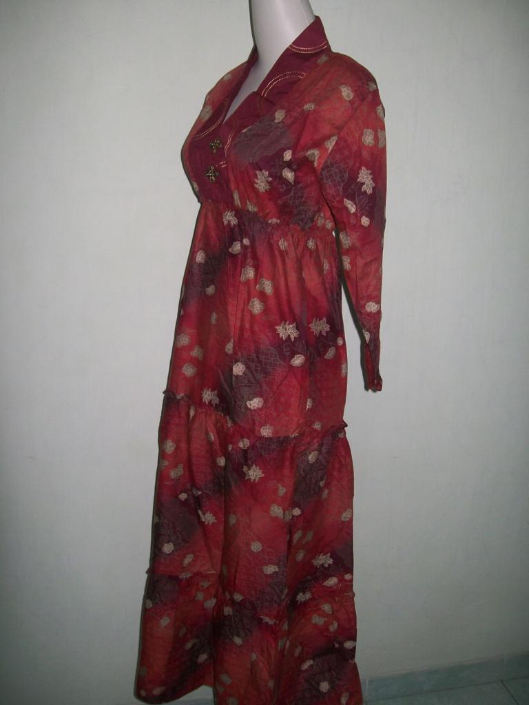 Abaya Batik Printing,Krah V Dan Batik Murah [GM025]