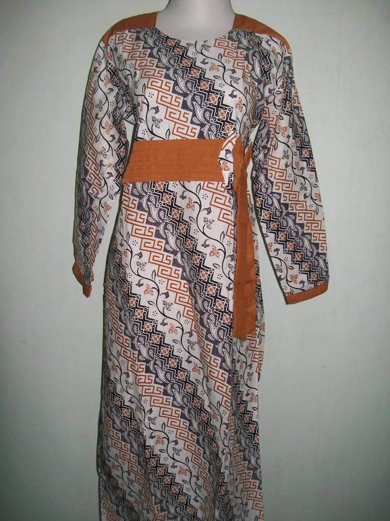 Jual Baju Gamis Batik Trendy Bahan Katun Halus Asli Solo