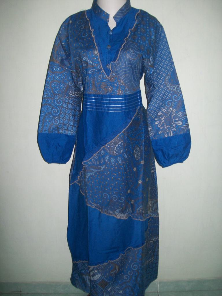 Jual Murah Gamis Batik Warna Biru Di Toko OL [GM028], Sold Out