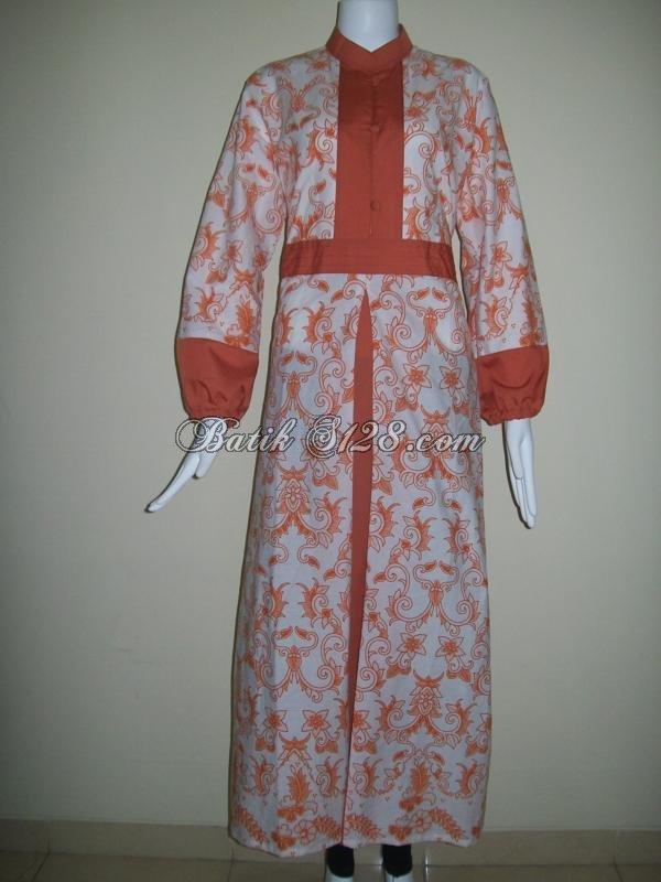 Koleksi Baju Gamis Batik Murah Modern Trendy Dan Keren