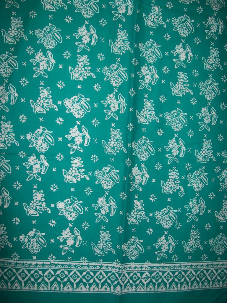 Jual Kain Batik Warna Hijau Batik Cap,Trendy Dan Modern [K144]