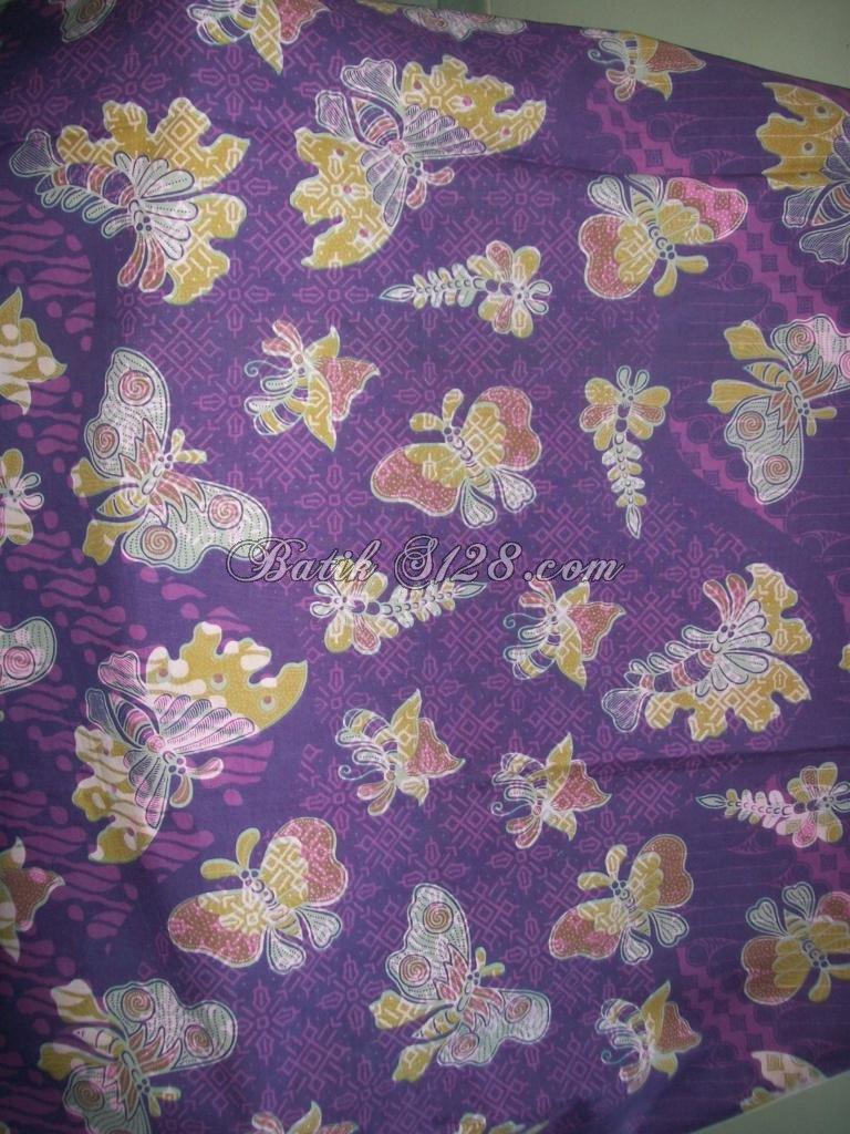 Jual Kain Batik Murah Motif Kupu Trend Warna 2012 K208 Jarik
