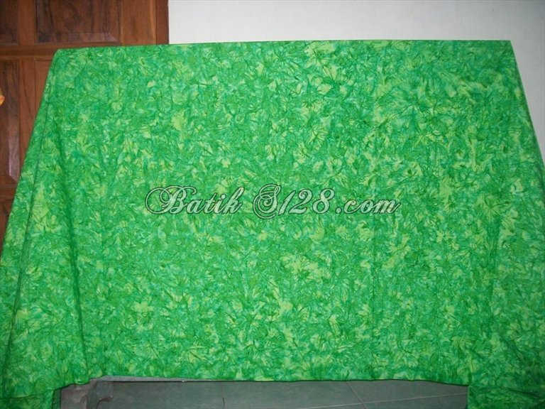jual kain batik asli solo trendy dan modern warna hijau