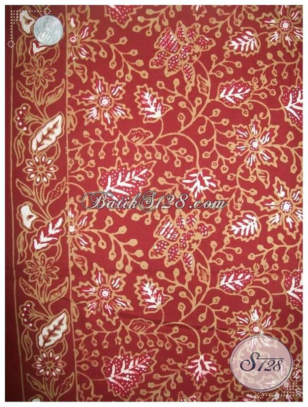 Bahan Batik Cantik Warna Merah Untuk Dress Batik Wanita Modern [KCT603]