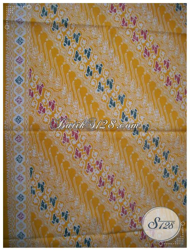 Kain Batik Cap Warna Kuning,Unik Dan Motif Trendy [KCTO423] - Toko ...