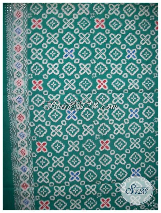 Kain Batik Motif Jumputan Warna Hijau Yang Banyak Disukai [KCTO427]