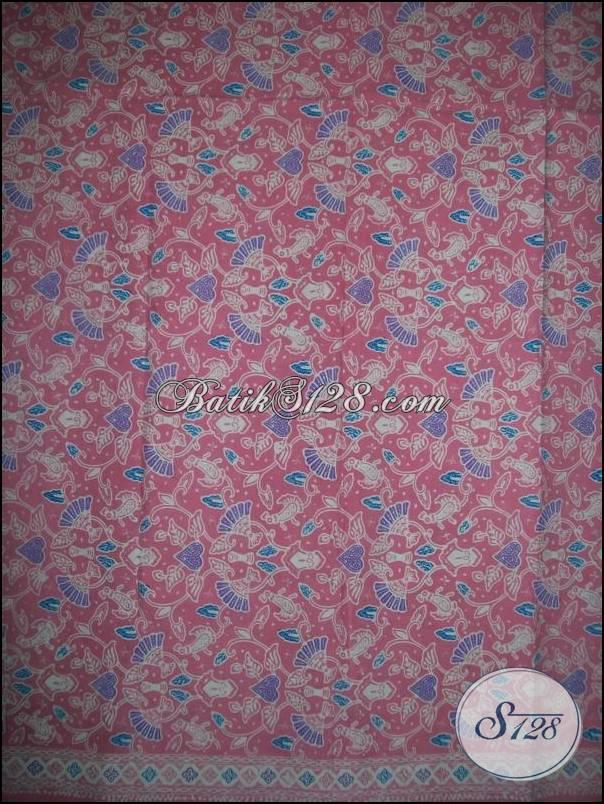 Kain Batik Murah Dijual Online,Batik Warna Pastel Pink [KCTO496]