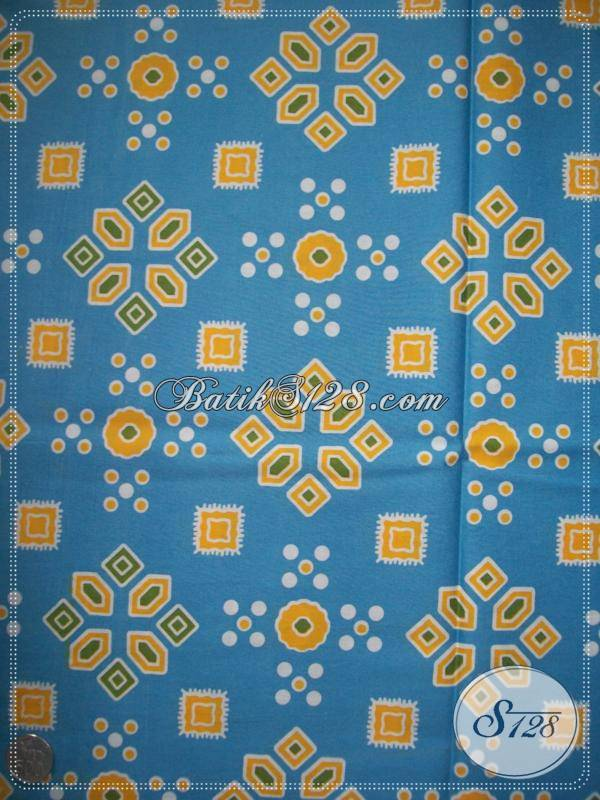 Kain Batik Murah Motif Jumputan Warna Biru [KP547]