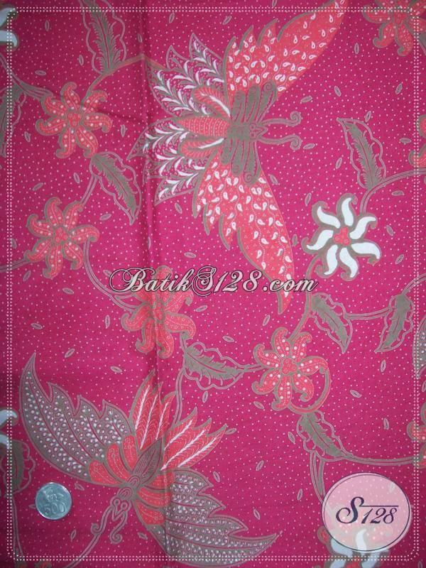 Bahan Batik Murah Motif Kupu Warna Merah Cocok Untuk Imlek [KP555]