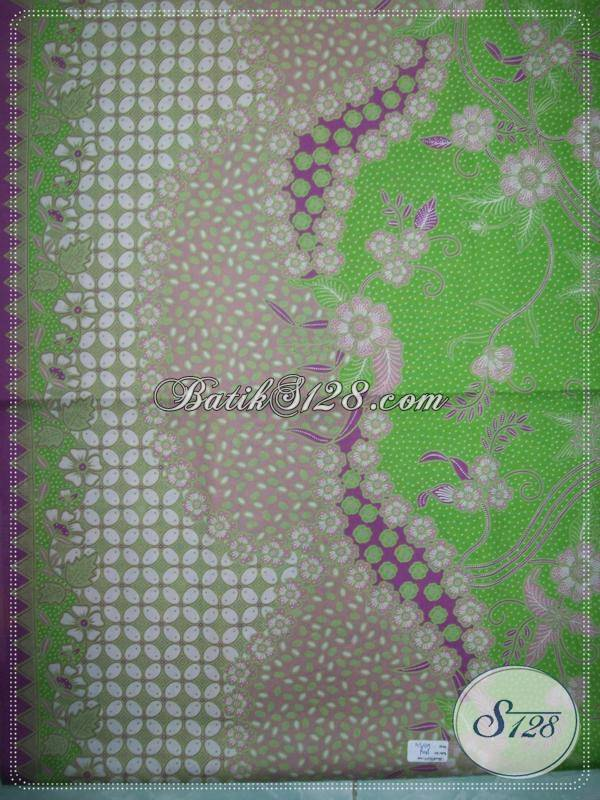 kain batik bertompal warna hijau pupus kp643 toko