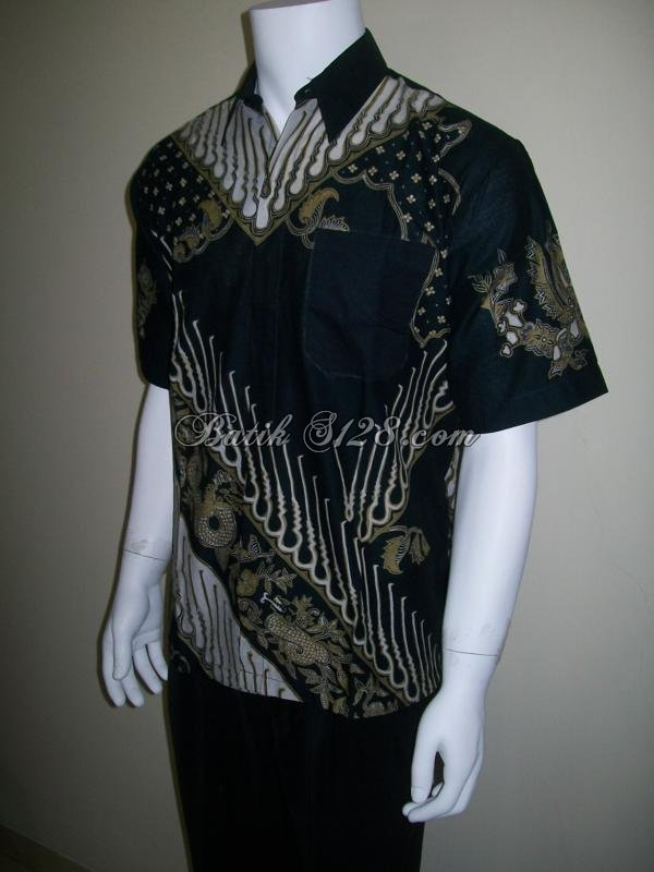 Kemeja Batik Cowok Harga Murah, Jenis Cap [LD044]