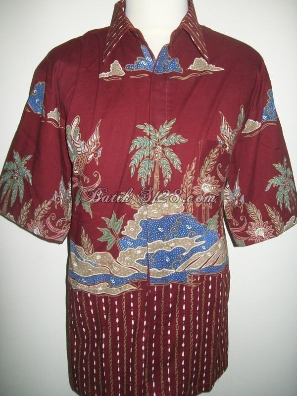 Kemeja Batik Lengan Pendek Unik Murah, Batik Tulis [LD099T]