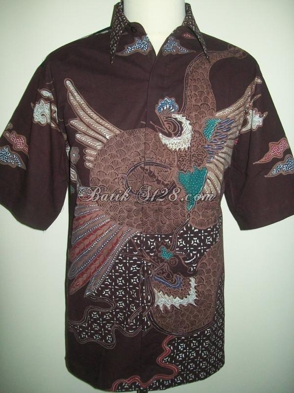 Kemeja Batik Murah Unik, Batik Tulis, 2 Warna [LD100T]