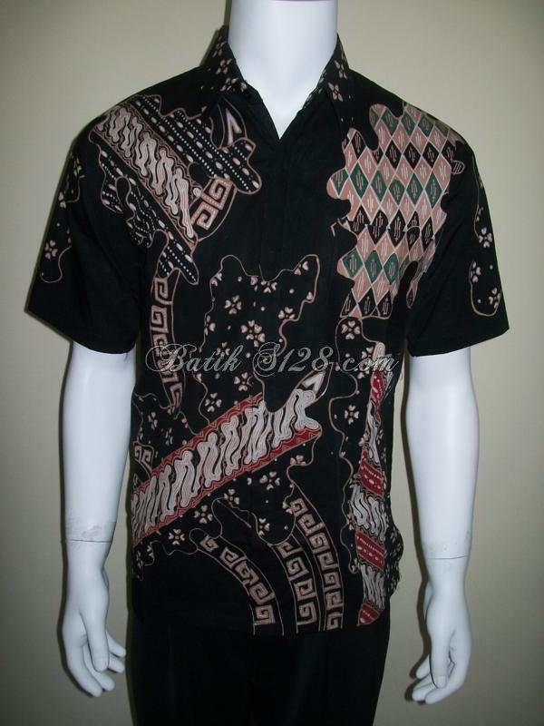 Kemeja Batik Lengan Pendek Tulis Murah [LD111T]