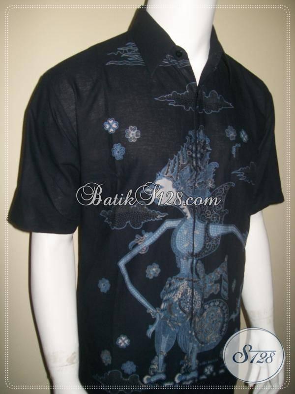 Fashion Batik Pria Motif Batara Kresna Warna Hitam