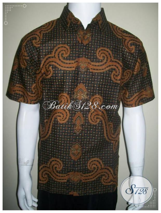 Batik Tidak Luntur, Baju Batik Lelaki Warna Sogan [LD147P]