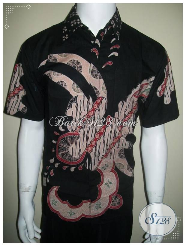 Model Baju Batik Pria Modern Lengan Pendek bad7b7e737