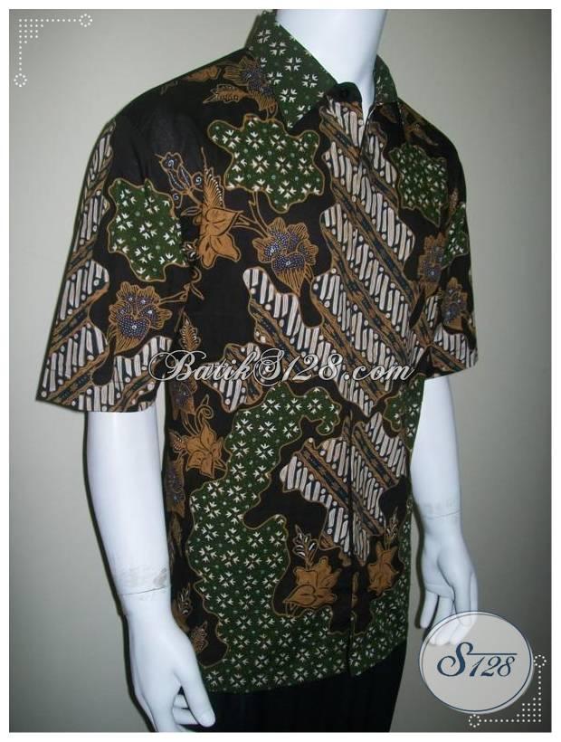 Kemeja Batik Tulis Pria Elegan Eksklusif, Batik Modern [LD162T]