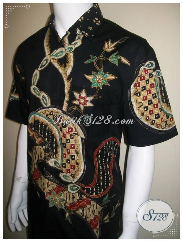 Baju Batik Tulis Pria Gaul Lengan Pendek Modern Murah 2012