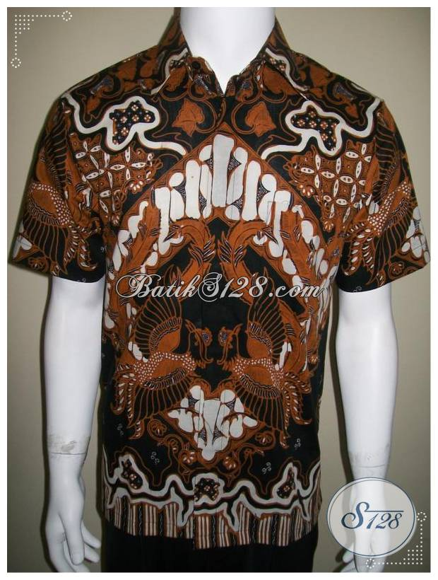 Kemeja Batik Berkelas, Batik Tulis Solo Gagah Berwibawa [LD190T-M]