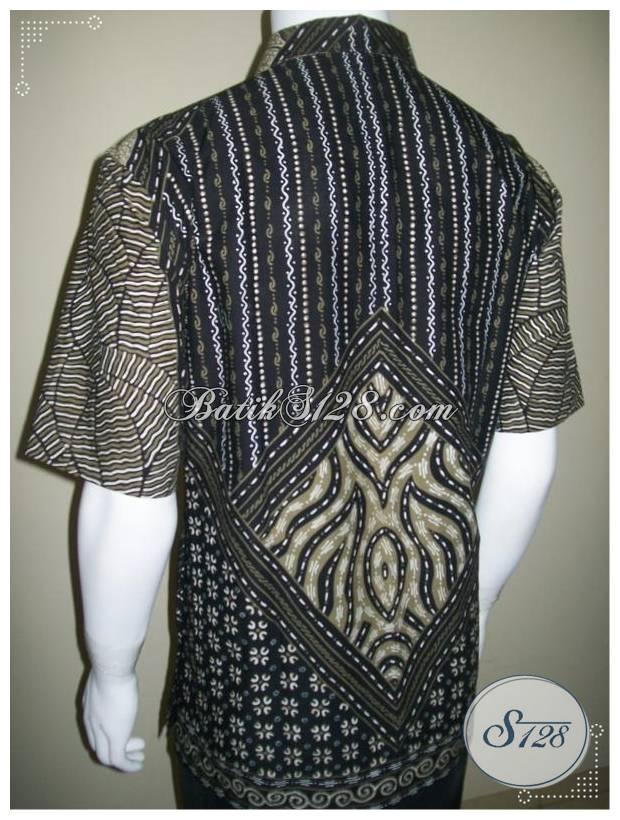 Baju Batik Pria Lengan Pendek, Batik Tulis Motif Milo, Kemeja Batik Gaul [LD198T-XL]