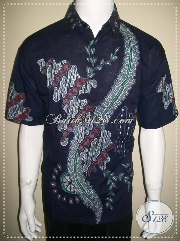 Kemeja Batik Biru Ukuran L, Batik Tulis Warna Biru [LD218T-L]
