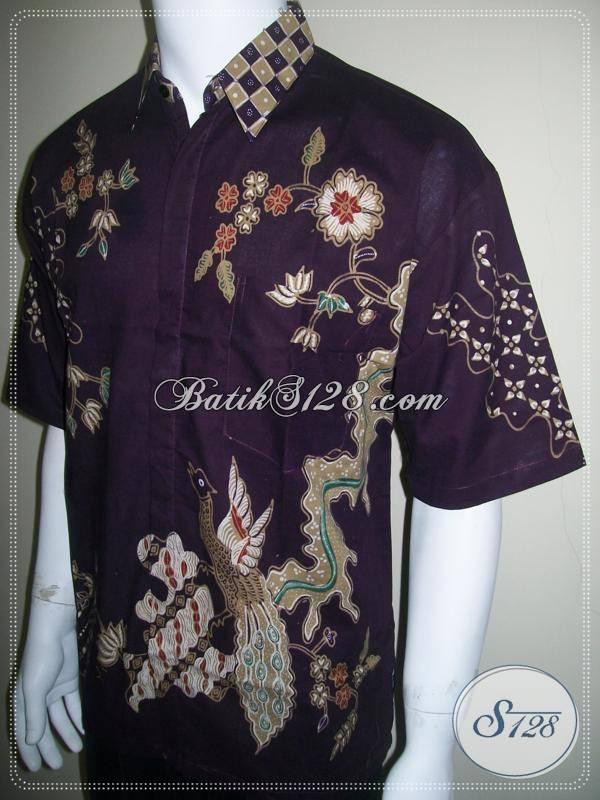 Kemeja Batik Warna Ungu, Elegan dan Eksklusif, Harga Terjangkau [LD224-XL]