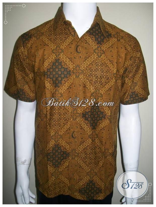 Kemeja Batik Lengan Pendek Murah, Motif Klasik Lawasan Ceplok Sriwedari