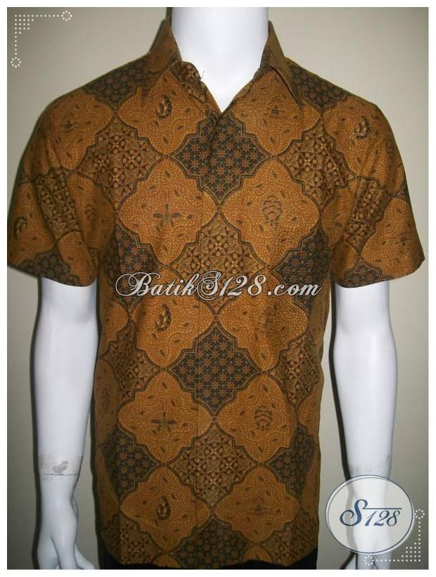Pusat Baju Batik Klasik Solo, Kemeja Batik Model Lawasan [LD244P-M]