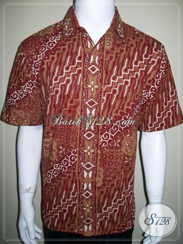 Style Baju Batik Pria Lengan Pendek Terbaru 2013 Kemeja Batik Cap Tulis Ld254ct L Toko