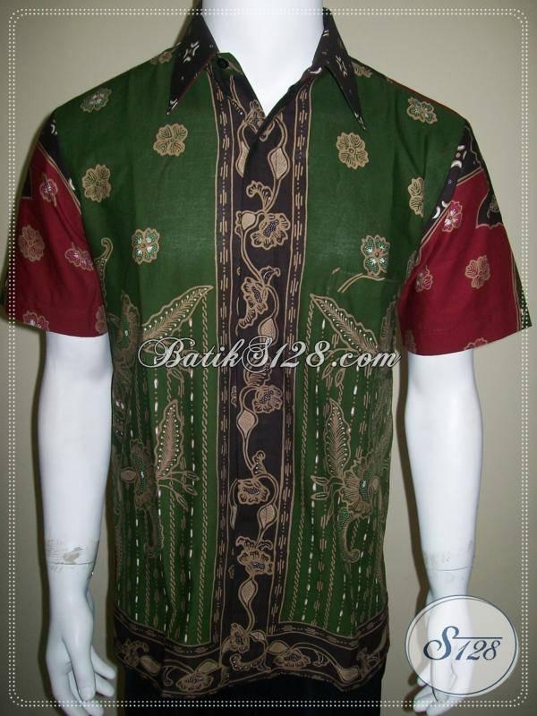 Kemeja Batik Pola Baju Batik Tulis Motif Modern Hijau