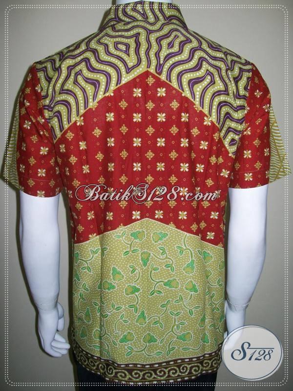 Model Baju Batik Remaja, Kemeja Batik Anak Muda Cowok, Warna Cerah [LD261T-M]