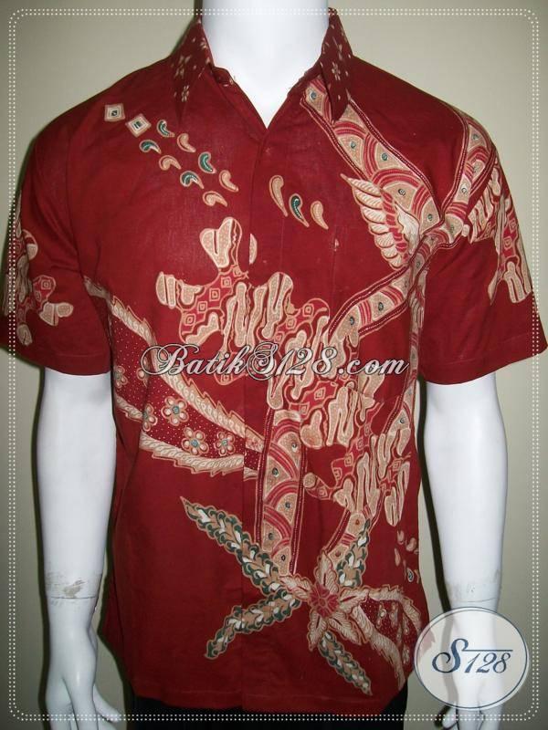 Jua Kemeja Batik Merah, Harga Murah Terjangkau [LD278T-M]