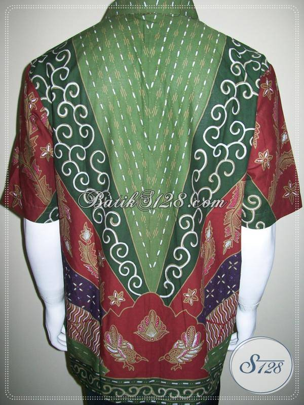 Fashion Batik 2013, Baju Batik Tulis Pria Corak Unik Modern Kontemporer [LD297-XL]