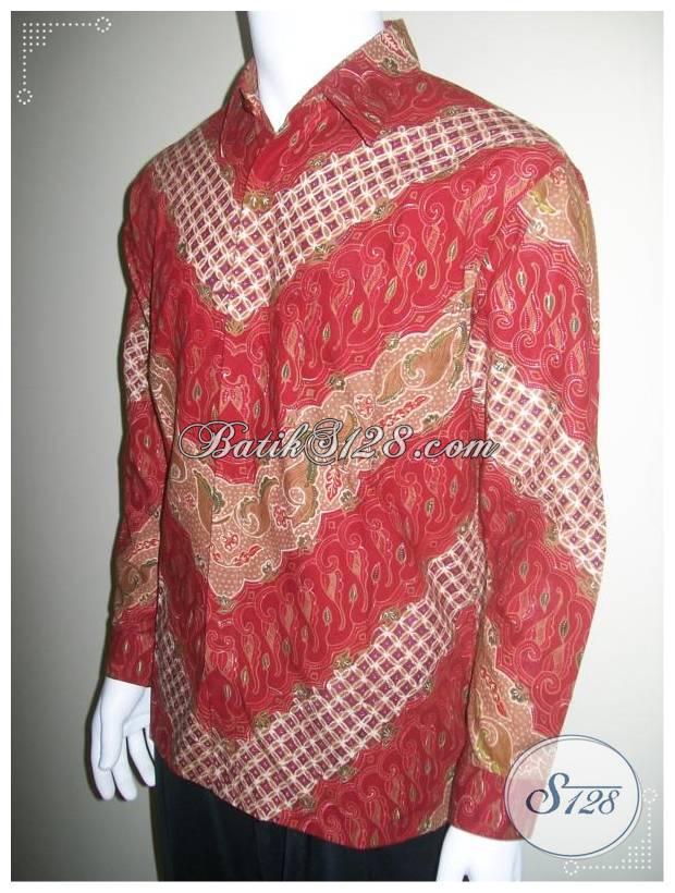 Kemeja Batik Lengan Panjang Pria, Eksklusif Elegan Untuk Eksmud (Eksekutif Muda) [LP145T]