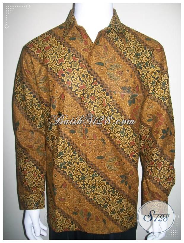 Baju Batik Lengan Panjang Pria, Batik Solo Modern [LP227PC-L]