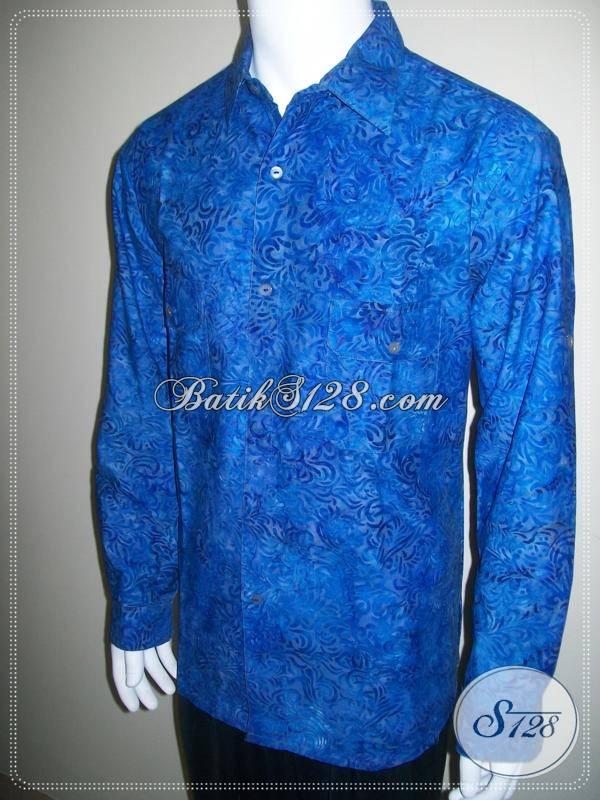 Baju Batik Casual Lengan Panjang Dilipat Busana Batik