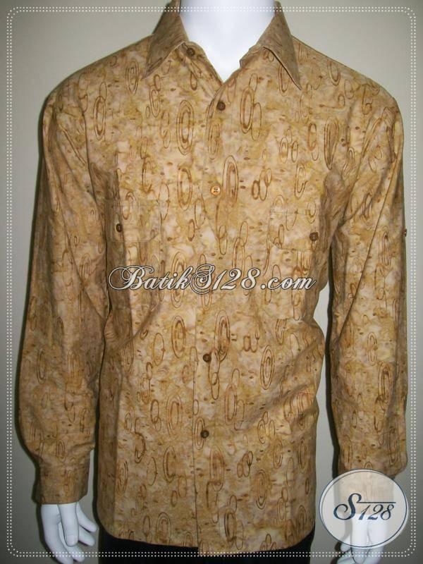 Model Baju Batik Casual Lengan Panjang Pria Dua Saku Lengan