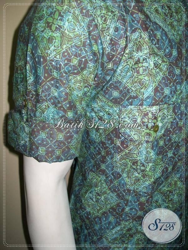 Kemeja Lengan Panjang Lipat, Model Batik Keren Anak Muda Terbaru