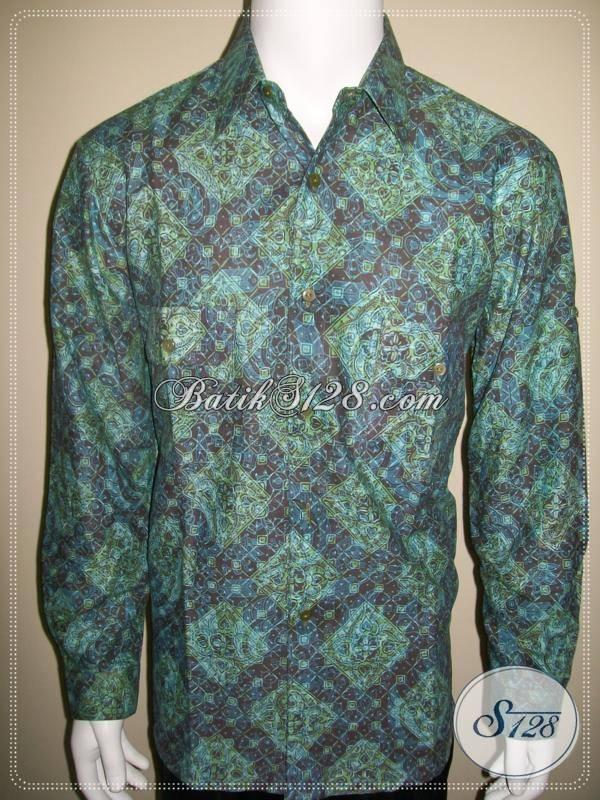 Baju Batik Pria Solo Harga Terjangkau Lengan Panjang