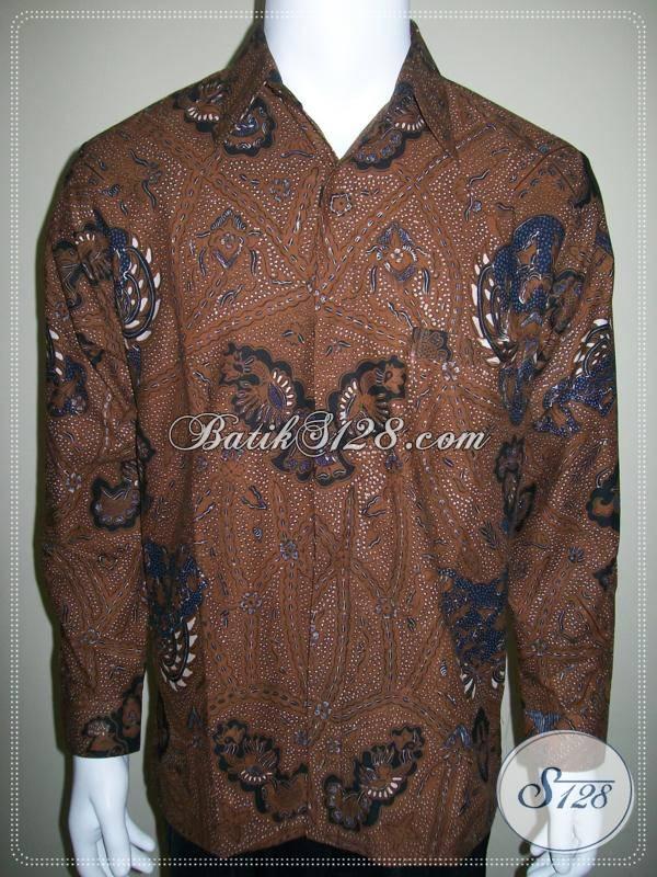 Kemeja Batik Klasik Lawasan, Daleman / Furing Separuh, Nyaman Dipakai Menyerap Keringat