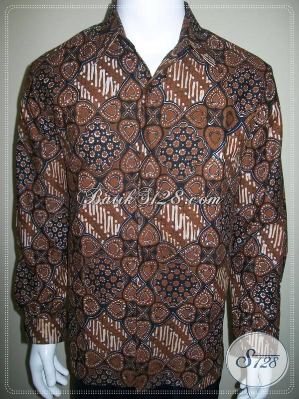 Hem Batik Furing Lengan Panjang Warna Dan Motif Klasik Batik