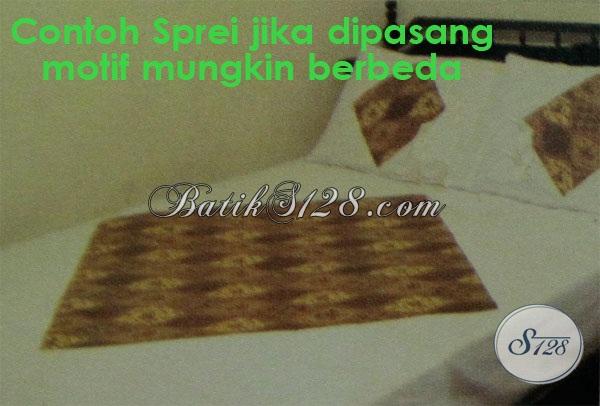 Sprei Batik Motif Klasik Bahan Katun Halus Dingin Nyaman Untuk Tidur, Sprei Batik Modern Untuk Keluarga Bahagia [SP006P]